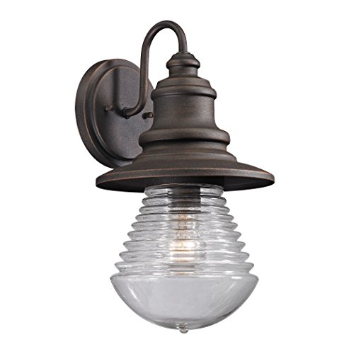 Alumbrada Collection Westport 1 Light Outdoor Sconce In Weathered Charcoal ()