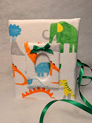 (Dinosaur Fabric Custom Photo Album for Boy - Holds 100 4x6 Photos -)