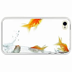 iPhone 4 4S Black Hardshell Case fish traffic water background Transparent Desin Images Protector Back Cover