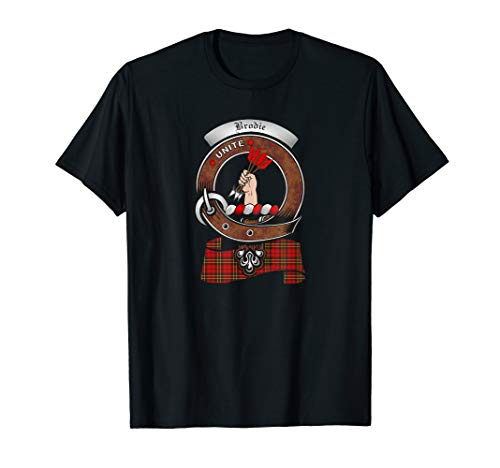 Brodie Scottish Clan Badge & Tartan T-Shirt ()