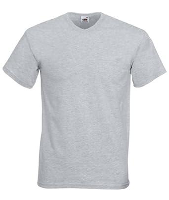 Fruit of the Loom Herren V-Neck T-Shirt im 10er Pack Größe XXL Farbe Grau:  Amazon.de: Bekleidung