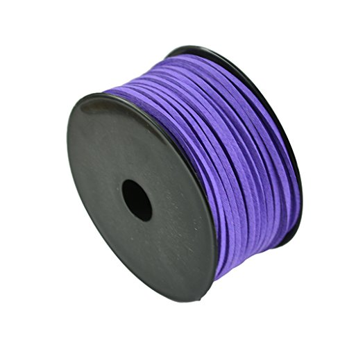 (MonkeyJack 3mm Faux Suede Korean Velvet Leather Cord string Rope Thread Bracelet Cord - Purple 50yd)