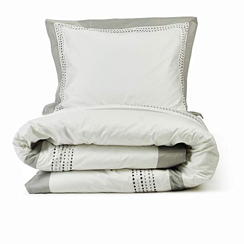 Lincove Luxury Duvet Cover Set - 100% Cotton Sateen Duvet Cover - Ultra Soft Premium Hotel Quality Design Bedding Set - 400 Thread Count (Madrid, Queen)