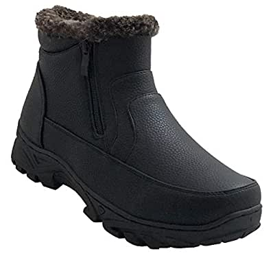 Amazon.com | Gelato Mens Snow Winter Hiking Boots Warm Fur