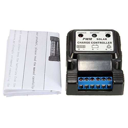 6V/12V 10A PWM Auto Solar Panel Charge Controller Battery Charger Regulator