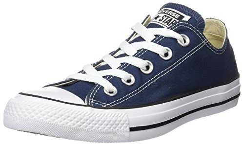 Converse All Star OX - Zapatillas de deporte de lona, unisex Azul (Navy)