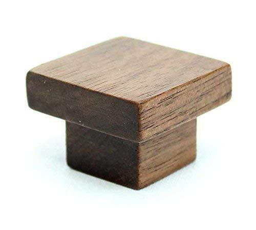 Square Walnut Wood Cabinet Knob
