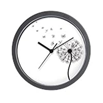 "CafePress Blowing Dandelion Unique Decorative 10"" Wall Clock - Our contemporary hanging wall clocks measure approximately 9.5"" in diameter and feature a durable black plastic case and clear lens, with a modern quartz movement to keep you in style and on time. The unique printed face design looks great, and is sure to make your decorative wall clock the centerpiece of your home, office or kitchen wall. Treat yourself, or make this novelty clock the perfect gift for housewarming, Father's Day, Christmas, birthday, funny retirement, or for no reason at all! - wall-clocks, living-room-decor, living-room - 412RhTy0jSL. SS400  -"