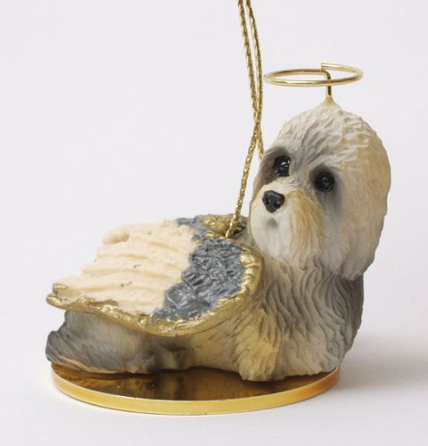 Dandie Dinmont Terrier Angel Dog Ornament (Dandie Dinmont Terrier Dog Figurine)