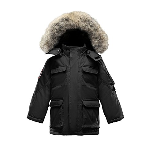 Triple F.A.T. Goose Kids Chenega Premium Down Jacket (7, Black) by Triple F.A.T. Goose