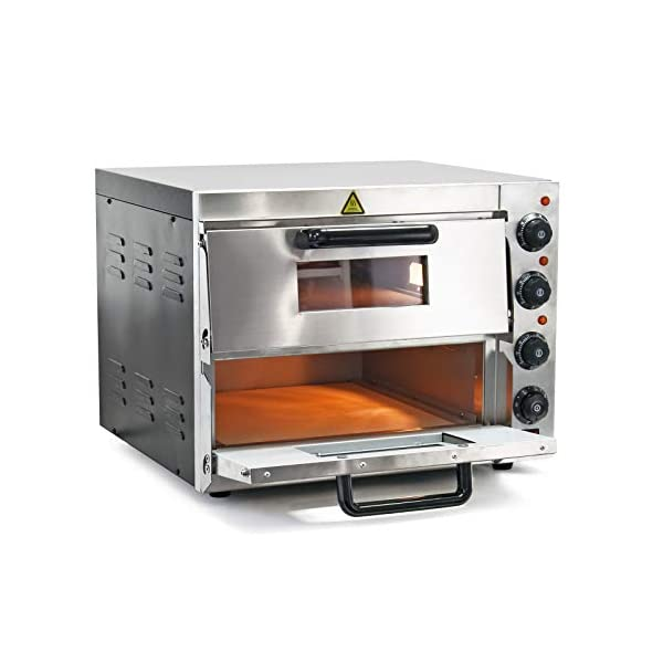 Forno per pizza professionale con doppia camera in acciaio inox, 3000W, 350°C Fornetto elettrico 2
