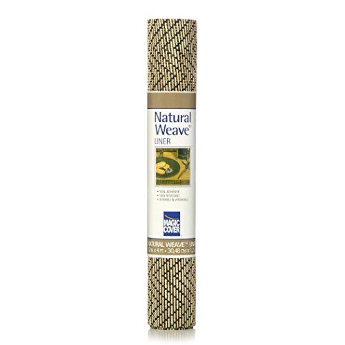 Magic Cover Natural Weave Shelf and Drawer Liner, 12x4', Black
