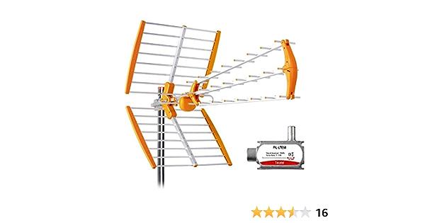 Tecatel - Antena Mandarine Triple Plegable UHF G=18 dB LTE ...