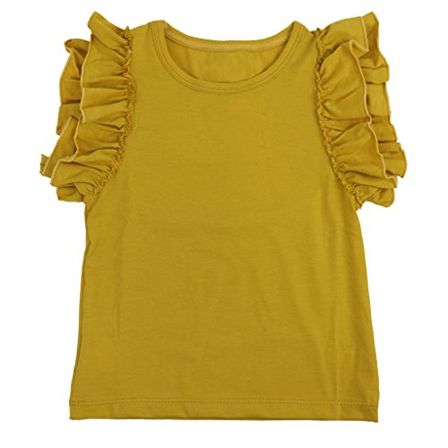 ls' Double Ruffle Solid Tank Top XX-Large Mustard ()