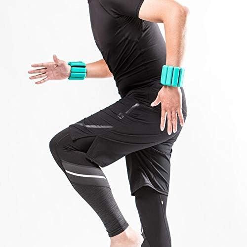 Ploufer Gewichtetes Armband, 2 Stück voll verstellbares, gewichtstragendes Armband Knöchelgewichtsring zur Stärkung der Fitnessübung Gehen Joggen Yoga Gym Gymnastik Aerobic