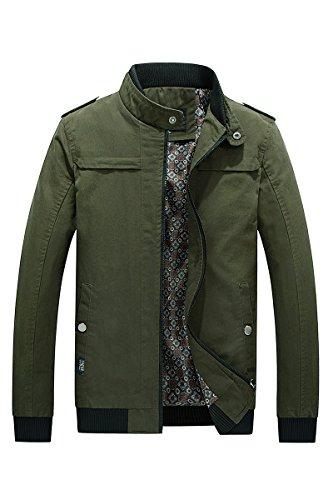 giacca Colletto Tuta Sportiva Sottile Verde Rivestimento Lsm Alla Della Cappotto Militare Coreana Maschile x7RFTxw