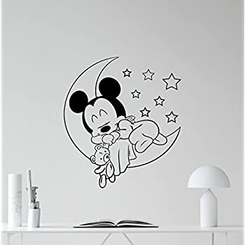Amazon Com Mickey Mouse Baby Sleeping Vinyl Wall Decal