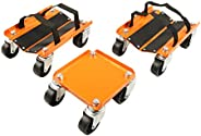 PeakTow PTT0102 Heavy Duty 1500Lbs V-Slide Snowmobile Dolly Set with Rubber Pad