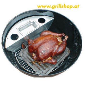 Grill - Smoker für Weber u. Outdoorchef 67 cm Holzkohlegrill
