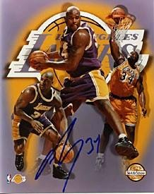 Oneal Shaquille Photograph Autographed - Shaquille O'Neal Autographed Collage Los Angeles Lakers 8x10 Photo - Autographed NBA Photos