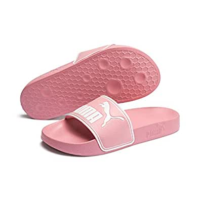 PUMA Leadcat JR Kids Fashion Sandals, Bridal Rose-PUMA White, 4 US