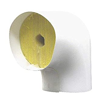 7//8 ID x 1 Wall Thickness White PERFORMANCE INSULATION F90CT781PVC Pipe Fitting Insulation//Fiberglass 90 Screwed Elbow and PVC Cover