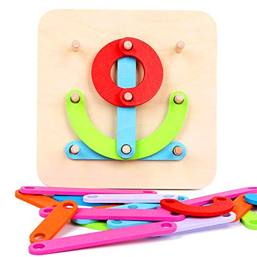 Go On 123 Wooden Activity Letter and Number Sorter Montessori Toys Educational Preschool Shape Color Recognition Geometric Board Block Stack Sort Puzzle Toys for Kids Baby Toddler Boy Girl