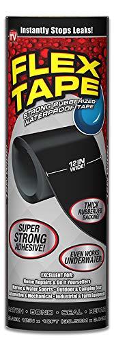 Flex Tape Rubberized Waterproof Tape, 12 inches x 10 feet, Black by Flex Tape (Image #8)
