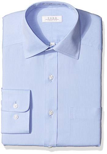 - Enro Men's Carlton Stripe Non-Iron Classic Fit Dress Shirt, Blue 155 x 32/33