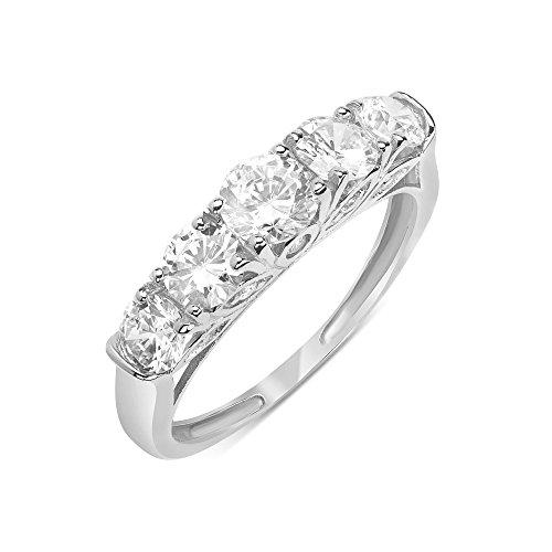 14K White Gold Wedding Ring Ro