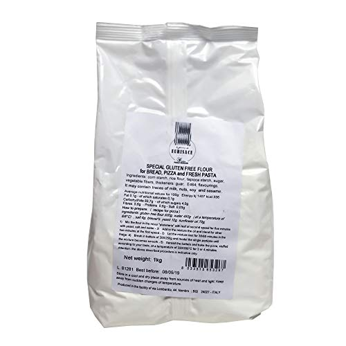 Paolo Mariani Italian Gluten Free Flour for Bread, Pizza and Fresh Pasta 2.2 lbs