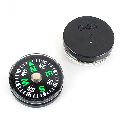 10 Pack Liquid Filled Button Compasses,Oil Filled,for Survival Bracelets,Mountaineering,Outdoor Sports,Boating Camping,Hiking,Emergency Survival Kits