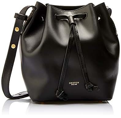 Oroton Women's Escape Mini Bucket Bag, Black, One Size