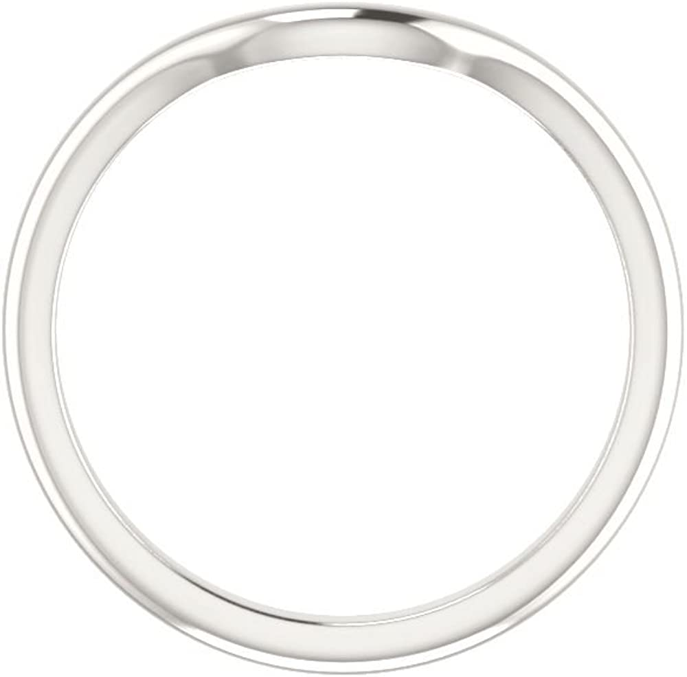 Size 7 Bonyak Jewelry Sterling Silver Band for 8 mm Round Ring