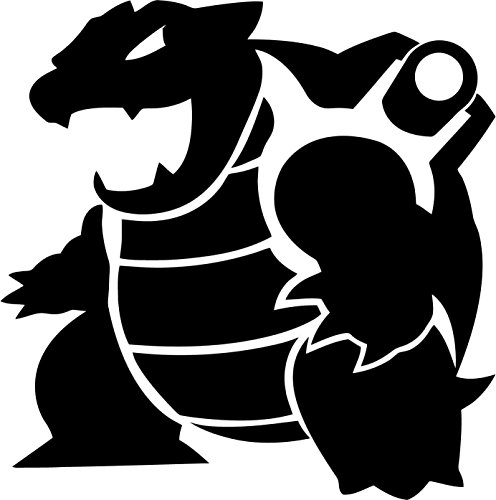 Pokemon Go Blastoise, Black, 8 Inch, Die Cut Vinyl Decal, For Windows, Cars, Trucks, Toolbox, Laptops, Macbook-virtually Any Hard Smooth Surface Photo - Pokemon Gaming