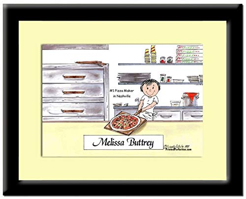 Personalized Print in Frame: Pizza Maker - Female - Pizza Shop, Dominos