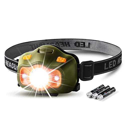 - besti 200 Lumens CREE LED Headlamp,White & Red LEDs and 5 Lighting Modes, Adjustable Strap, IPX4 Water Resistant. Great For Running, Camping, Hiking & More.(Batteries Included)