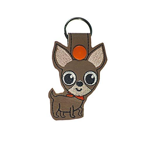 Chihuahua Dog Key Fob or Luggage Tag