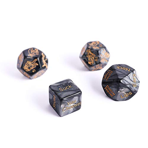 Asicoon Marbling Polyhedral Dice Game Set That Creats Great Funny for Lovers Noverty -