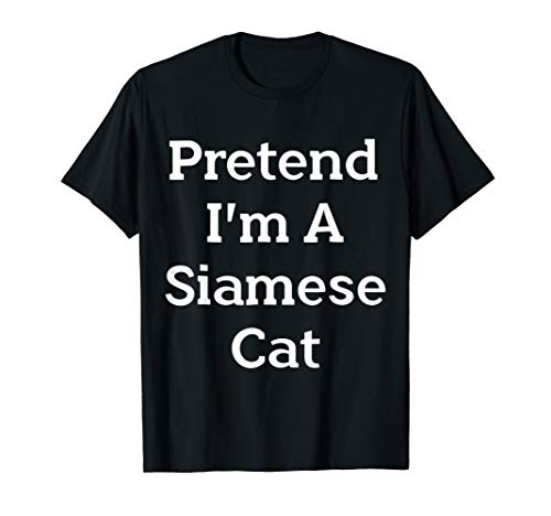 Pretend Siamese Cat Costume Funny Halloween Party T-Shirt for $<!--$16.58-->