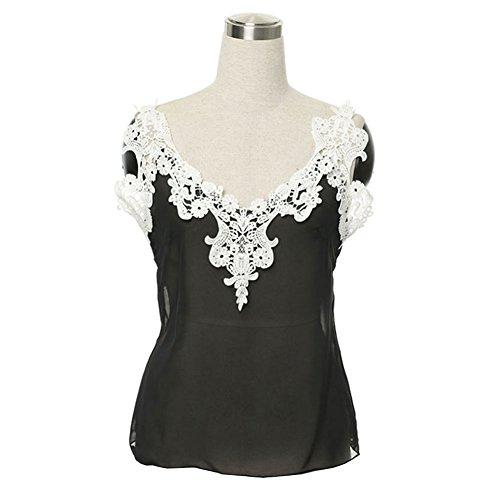 Ruiyige - Vestido - para mujer negro