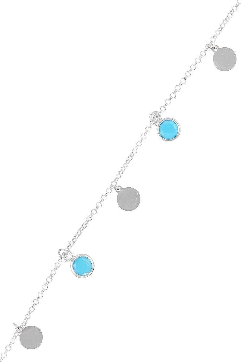 Córdoba Jewels |Pulsera en Plata de Ley 925 con Piedra semipreciosa con diseño Chapa Dolce Calcedonia Silver