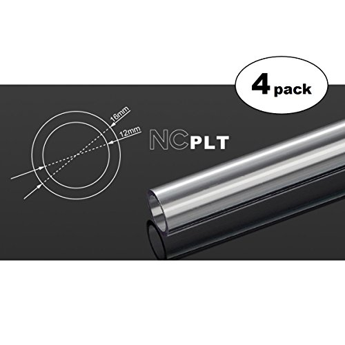 Bitspower None Chamfer PETG Link Tube, 16mm OD, 500mm, Clear, 4-pack (4 Link Tube)