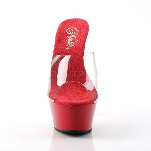 Clear 201 Platform Slide Gogo PleaserUSA Tabledance Kiss Womens Red Classic aBq1Z