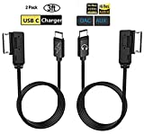 Mercedes USB C Aux Charger Cable, Mercedes Benz Type C Car Audio Charging Adapter Kit, Compatible with Pixel 2 XL HTC U11 U12+ Motorola Moto Z2 Samsung S9 S8 Note 8 LG G6 V30 for MB (Aux+Charger)