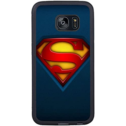 Samsung S7 Edge TPU Cases Designed with Fabric-Superman-Logo Black TPU Case for Samsung Galaxy S7 Edge Sales
