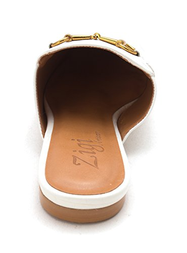 Zigi Soho Womens Mallary Leather Closed Teen Mules White Croc Lt O