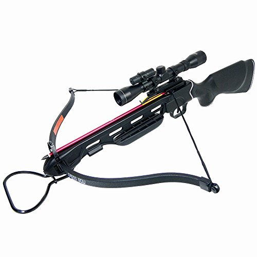 150-lb-Black-Wood-Camouflage-Hunting-Crossbow-Archery-Bow-4x20-Scope-7-Arrows-Rope-Cocking-Device-180-80-50-lbs