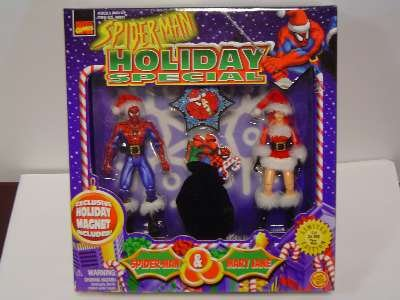 Spider-Man Holiday Special w/Mary Jane Action Figure Box Set (Man Mary Jane Spider)