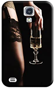 CARTOON Beauty and Champagne Hard Back Shell Case / Cover for Galaxy S4